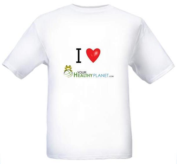 "Launch Tees - ""I Love Your Healthy Planet.com"" - Click Image to Close"