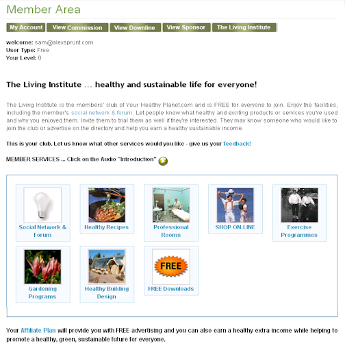 Member's Area - The Living Institute